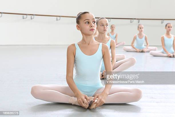 Prima ballerina Agnes Letestu is photographed with her pupil dancer Romane for Paris Match on September 28 2013 in Nanterre France