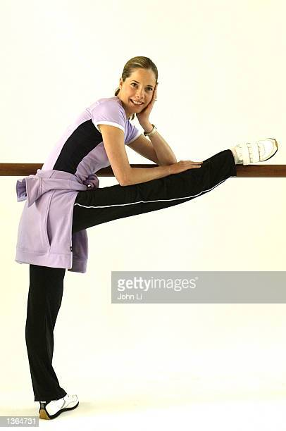 Prima Ballerina Darcey Bussell attends a photo call to unveil a new performanceled sportswear line from Marks and Spencer a leading UK retailer...