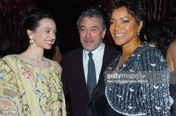 Prima ballerina Diana Vishneva joins Robert De Niro and wife Grace Hightower at Lincoln Center for a dinner celebration following the American Ballet...