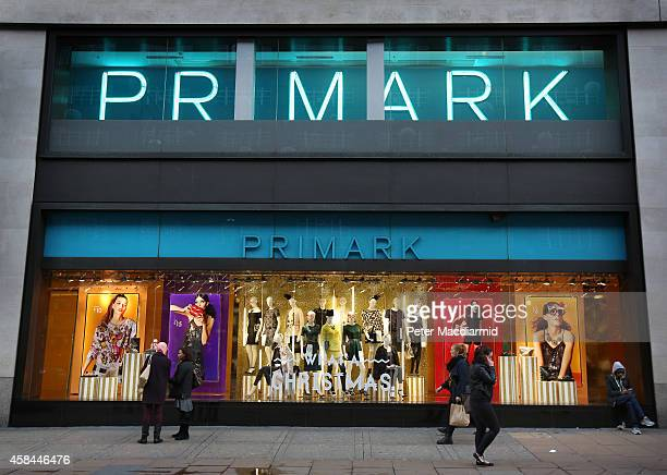 Primark's flagship store on Oxford Street on November 5 2014 in London England Retail giant Marks and Spencer have shown a continued decline in...
