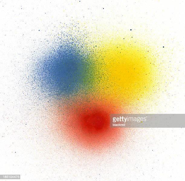 Cores primárias Spray de Tinta