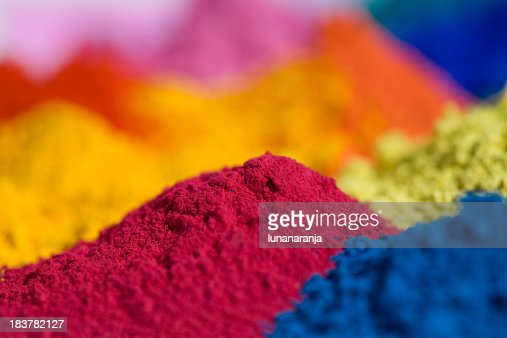 Principal magenta polvo de pigmento.
