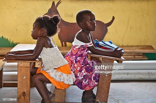Enfants de l'école primaire en Zambie