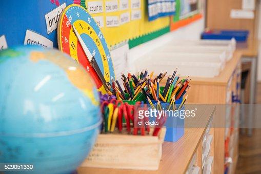 Primary School Class Room. : Stock Photo