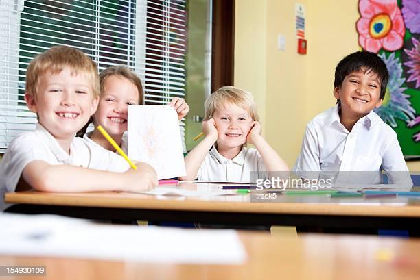 primary school: happy, smiling faces