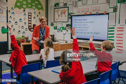 Primary School Lesson : Stock Photo
