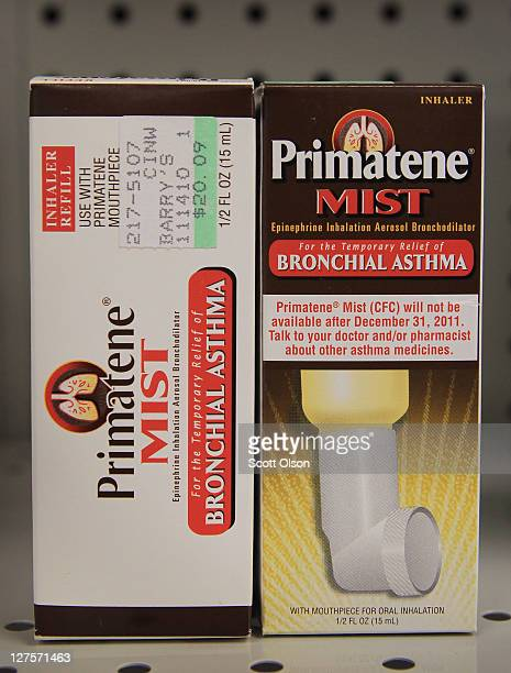 Primatene Mist is offered for sale at Barry's Drugs on September 29 2011 in Chicago Illinois Primatene Mist the only overthecounter inhalers approved...