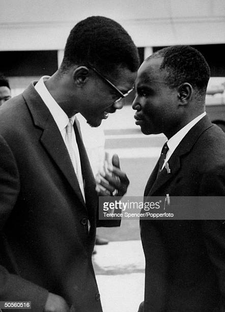 Prime Min of newly independent Congo Patrice Lumumba