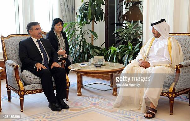 Prime Minister and Interior Minister of Qatar Abdullah bin Khalifa Al Thani and Minister of National Defence of Turkey Ismet Yilmaz meet in Doha...