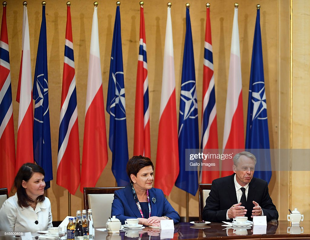 beata szydlo meets erna solberg photos and images getty images