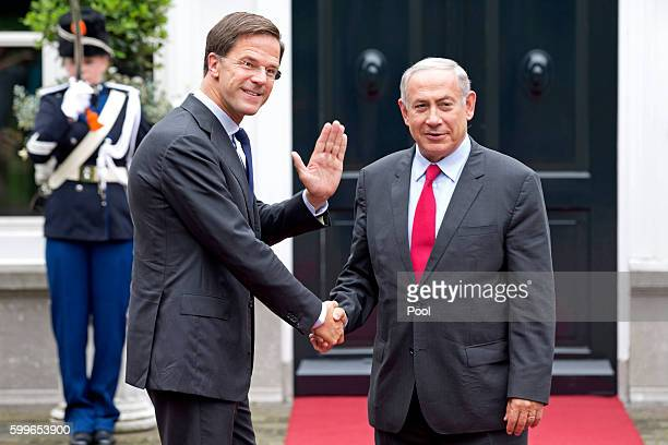 Prime Minister Benjamin Netanyahu meets with Dutch Prime Minister Mark Rutte on September 6 2016 in The Hague Netherlands