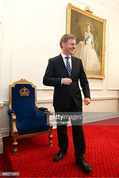 Prime Minister Bill English looks on during a ceremony at Government House on December 20 2016 in Wellington New Zealand Bill English announced his...