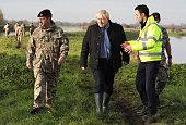 GBR: Boris Johnson Visits Flood-Hit South Yorkshire