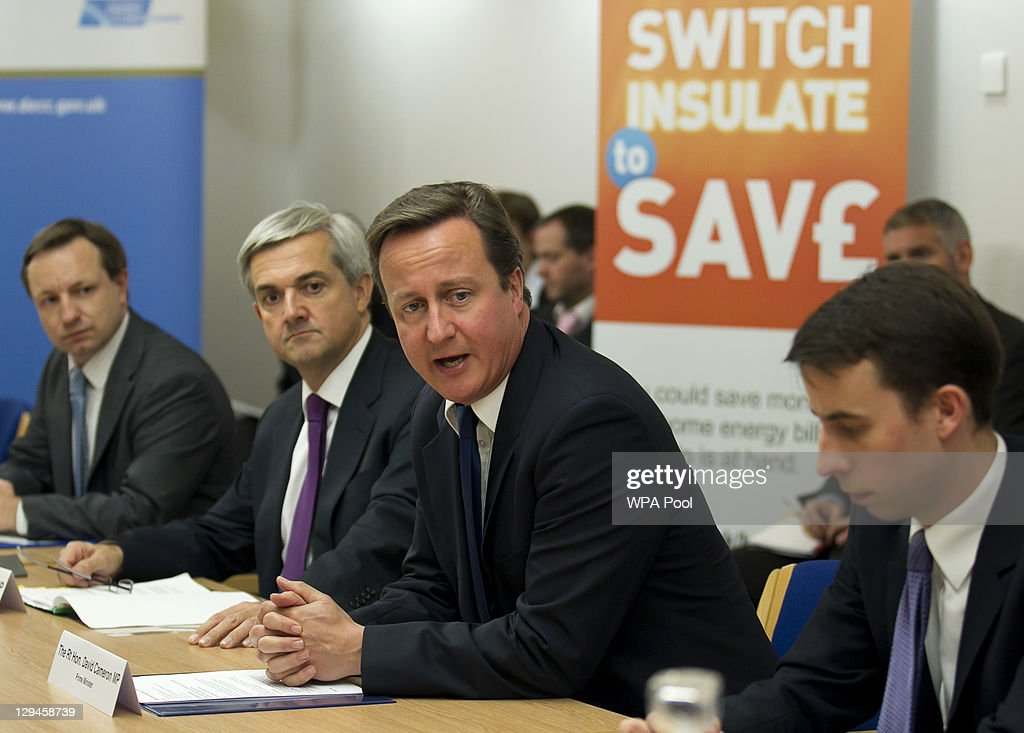 Prime Minister David Cameron Speaks During The Energy Summit