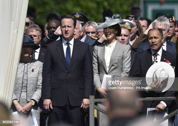 Prime Minister David Cameron and Samantha Cameron with other dignitaries at the Service of Remembrance at the Commonwealth War Graves Commission...