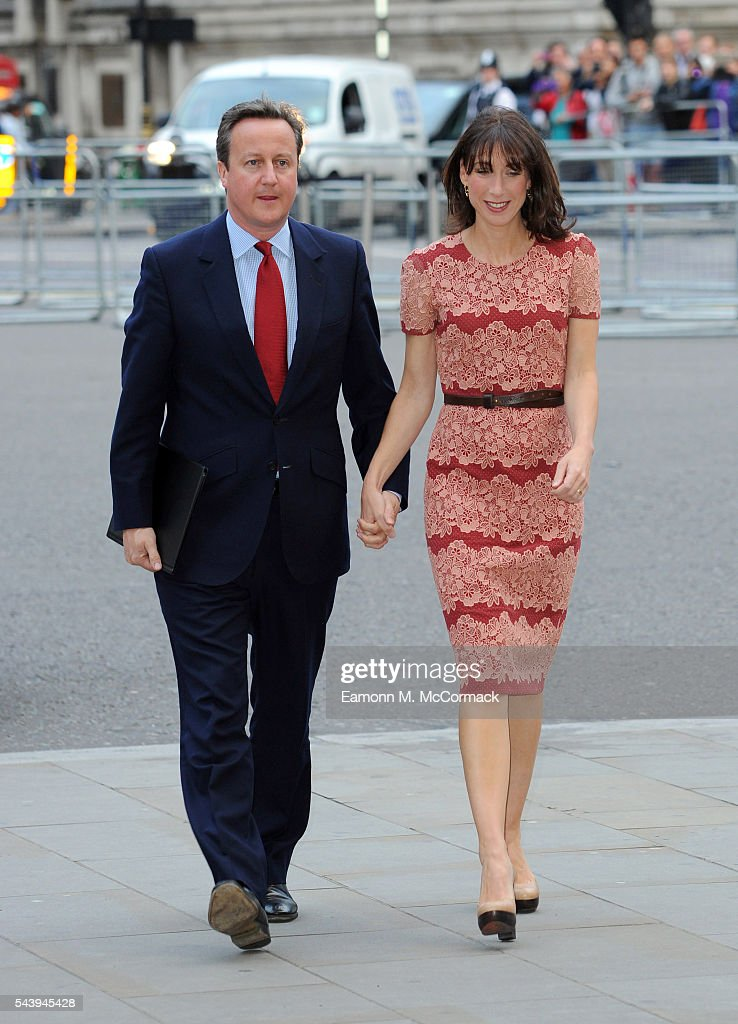 Prime Minister <a gi-track='captionPersonalityLinkClicked' href=/galleries/search?phrase=David+Cameron+-+Politician&family=editorial&specificpeople=227076 ng-click='$event.stopPropagation()'>David Cameron</a> and wife <a gi-track='captionPersonalityLinkClicked' href=/galleries/search?phrase=Samantha+Cameron&family=editorial&specificpeople=624344 ng-click='$event.stopPropagation()'>Samantha Cameron</a> attend Service on the eve of the centenary of The Battle of The Somme at Westminster Abbey on June 30, 2016 in London, England.