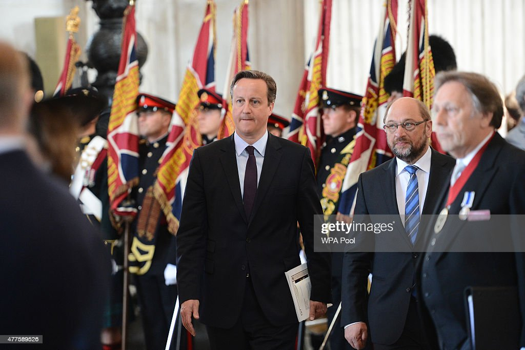Prime Minister, David Cameron attends a commemoration service to mark the 200th Anniversary of the Battle of Waterloo, at St Paul's Cathedral on June 18, 2015 in London, England.