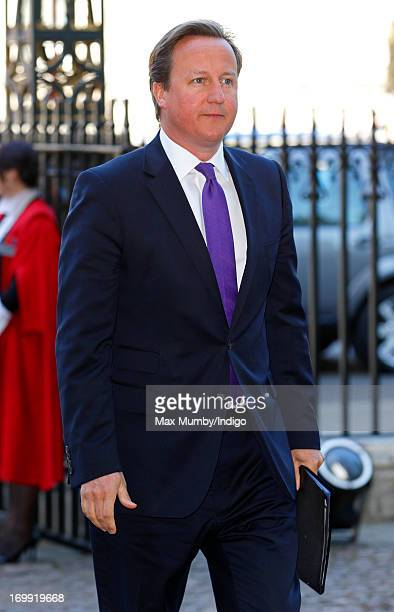 Prime Minister David Cameron attends a service of celebration to mark the 60th anniversary of the Coronation of Queen Elizabeth II at Westminster...