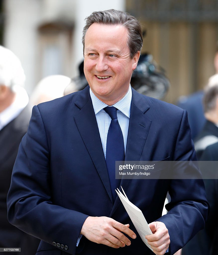 Prime Minister <a gi-track='captionPersonalityLinkClicked' href=/galleries/search?phrase=David+Cameron+-+Pol%C3%ADtico&family=editorial&specificpeople=227076 ng-click='$event.stopPropagation()'>David Cameron</a> attends a Service of Thanksgiving for the life of Geoffrey Howe (Lord Howe of Aberavon) at St Margaret's Church, Westminster Abbey on May 3, 2016 in London, England. Conservative politician Geoffrey Howe who served as Chancellor of the Exchequer and Foreign Secretary during the 1980's died aged 88 on October 9, 2015.