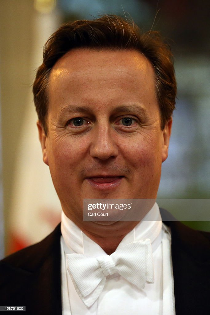 Prime Minister <a gi-track='captionPersonalityLinkClicked' href=/galleries/search?phrase=David+Cameron+-+Homme+politique&family=editorial&specificpeople=227076 ng-click='$event.stopPropagation()'>David Cameron</a> attends the Lord Mayor's Banquet at The Guildhall on November 10, 2014 in London, England. The Lord Mayor of London, Alan Yarrow, is hosting the annual Lord Mayor's Banquet in London's Guildhall which will feature speeches from the Prime Minister and the Archbishop of Canterbury. Alan Yarrow was recently elected 687th Lord Mayor of the City of London, a role that has been in existence since 1189.