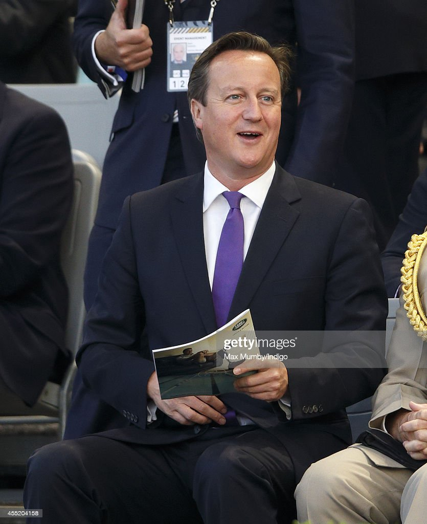 Prime Minister David Cameron attends the Opening Ceremony of the Invictus Games at the Queen Elizabeth Olympic Park on September 10, 2014 in London, England.