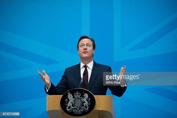 Prime Minister David Cameron delivers a speech on immigration at the Home Office on May 21 2015 in London England Despite pledging in 2010 to reduce...