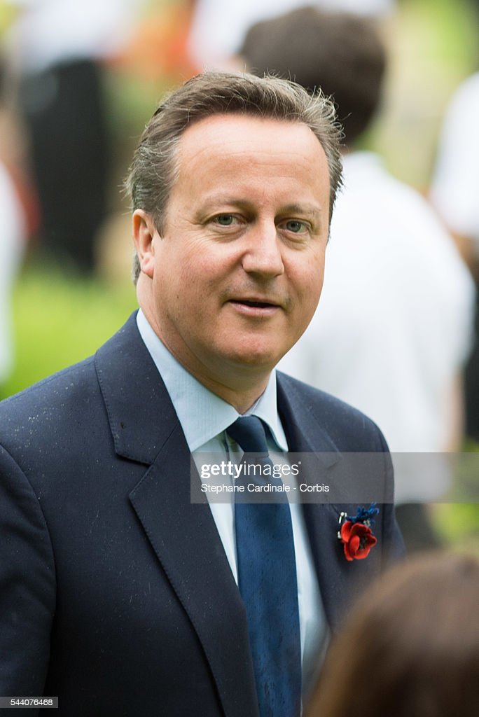 Prime Minister David Cameron during the Commemoration of the Centenary of the Battle of the Somme at the Commonwealth War Graves Commission Thiepval Memorial on July 1, 2016 in Thiepval, France.