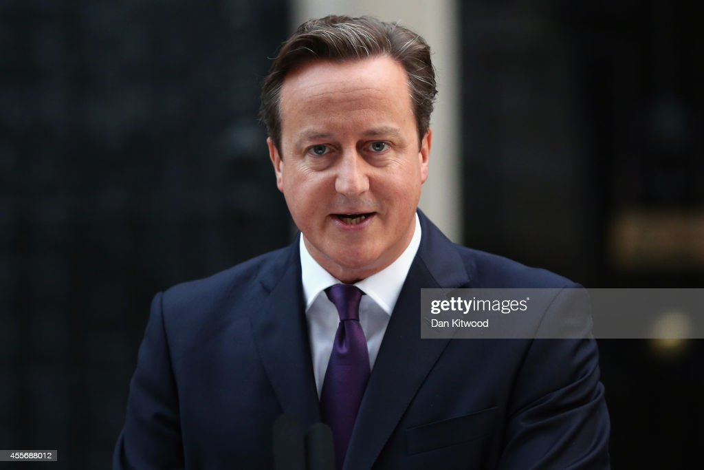 Prime Minister David Cameron Reacts To The Scottish Referendum Decision