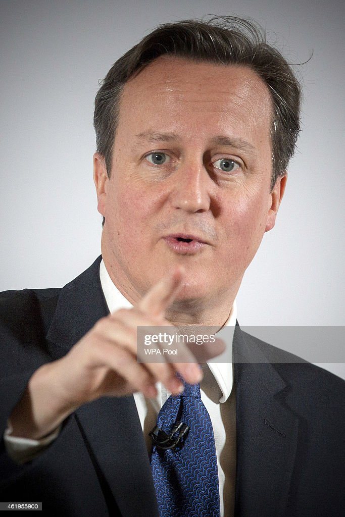 Prime Minister <a gi-track='captionPersonalityLinkClicked' href=/galleries/search?phrase=David+Cameron+-+Politico&family=editorial&specificpeople=227076 ng-click='$event.stopPropagation()'>David Cameron</a> gives a speech about the further powers devolved to the Scottish parliament under the Smith Commission, on January 22, 2015 in Edinburgh, Scotland. <a gi-track='captionPersonalityLinkClicked' href=/galleries/search?phrase=David+Cameron+-+Politico&family=editorial&specificpeople=227076 ng-click='$event.stopPropagation()'>David Cameron</a> is making his first visit to Scotland today since the independence referendum last September. A draft Bill detailing new powers to the Scottish Parliament has been published today by the UK government.