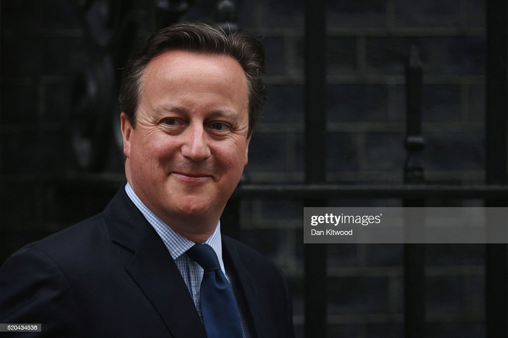 David Cameron Leaves Downing Street To Address Parliament Over Tax Avoidance Schemes