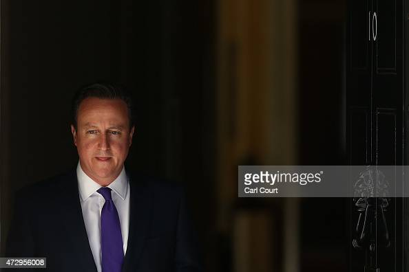 Prime Minister David Cameron leaves Downing Street on May 11 2015 in London England Prime Minister David Cameron continued to announce his new...