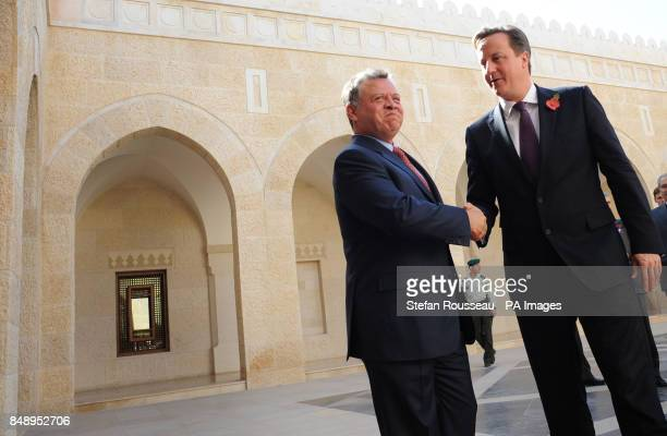 Prime Minister David Cameron meets King Abdullah of Jordan at the Royal Palace in Amman today Earlier the PM visited the Za'atri refugee camp near...
