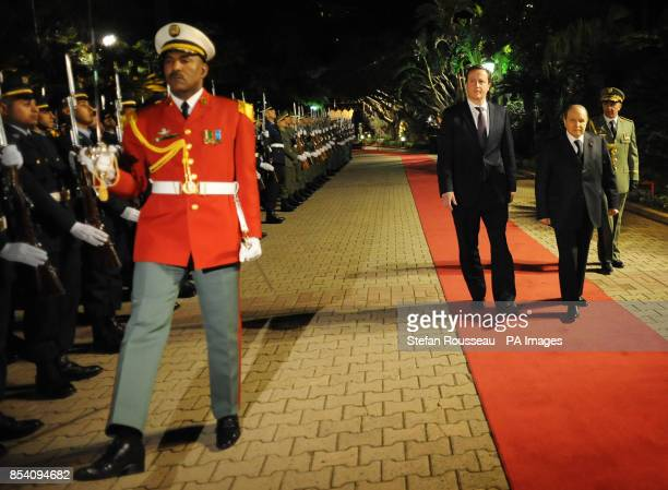 Prime Minister David Cameron meets the Algerian President Abdelaziz Bouteflika at the Presidential Palace in Algiers Algeria