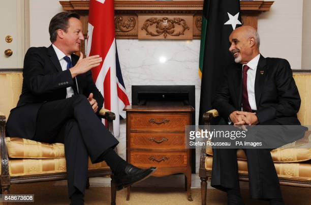 Prime Minister David Cameron meets with Libyan President Mohamed Yousef ElMagariaf in New York today before addressing the United Nations General...