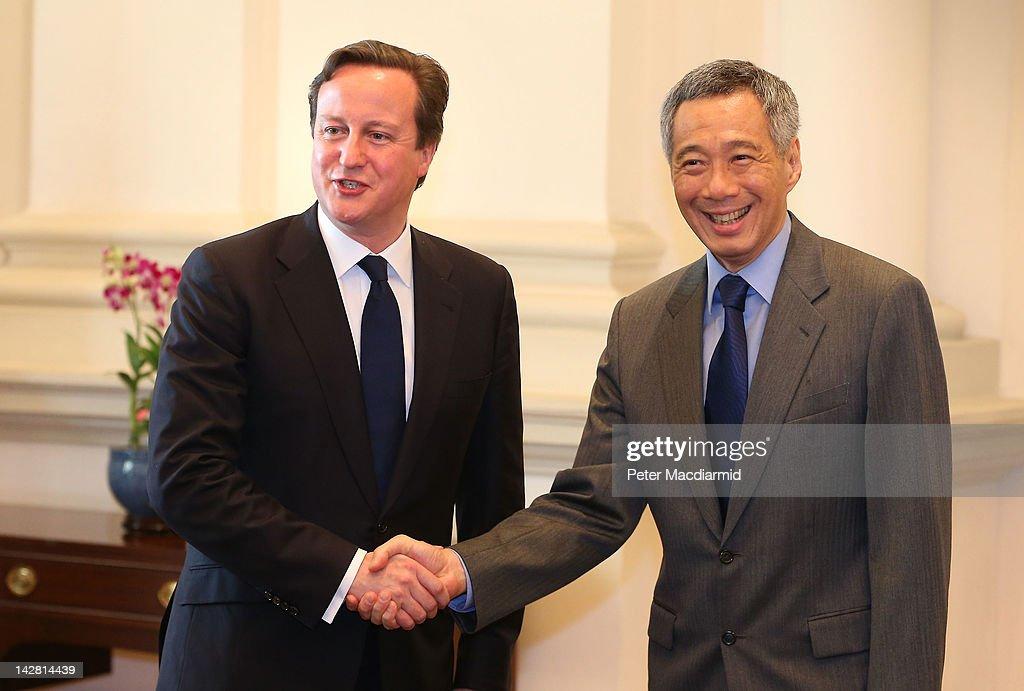 Prime Minister David Cameron Visits Singapore