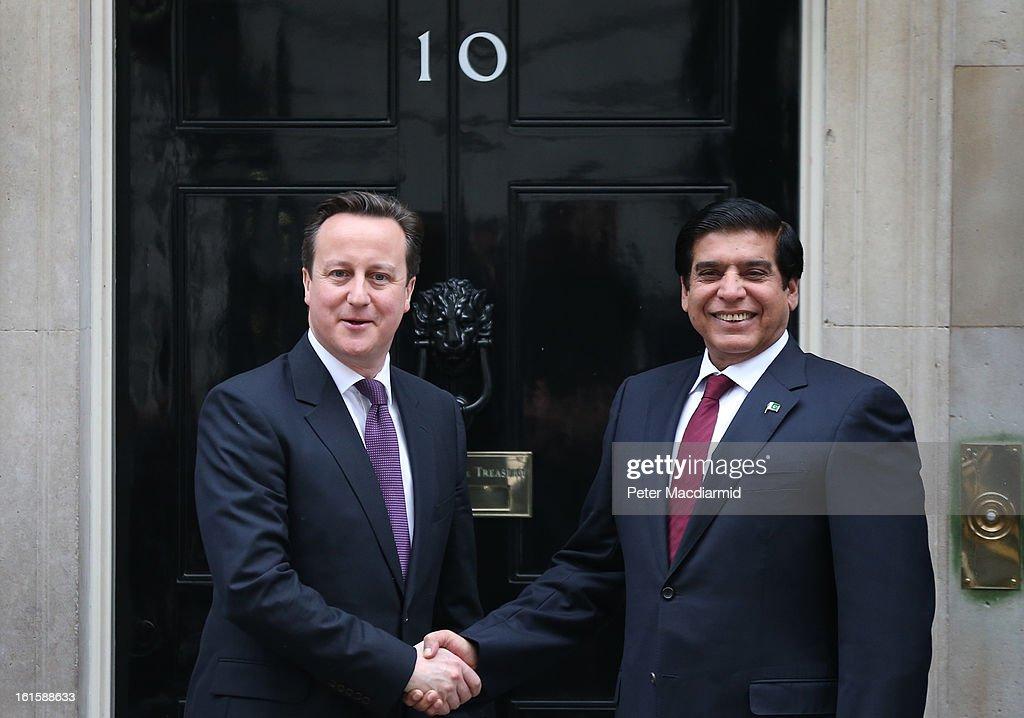Prime Minister David Cameron Meets Prime Minister Of Pakistan Raja Pervez Ashraf