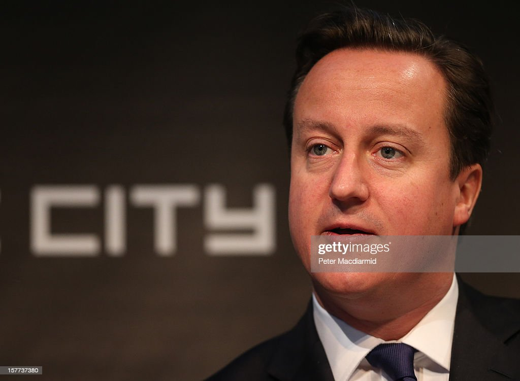 Prime Minister <a gi-track='captionPersonalityLinkClicked' href=/galleries/search?phrase=David+Cameron+-+Homme+politique&family=editorial&specificpeople=227076 ng-click='$event.stopPropagation()'>David Cameron</a> speaks at the The Electric City Conference on December 6, 2012 in London, England. The conference is looking at how the combined forces of technological innovation and the global environment crisis are affecting urban society.