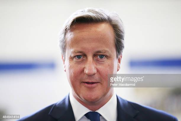 Prime Minister David Cameron visits General Dynamics on September 3 2014 in Blackwood Wales The government has today announced it's decision to...