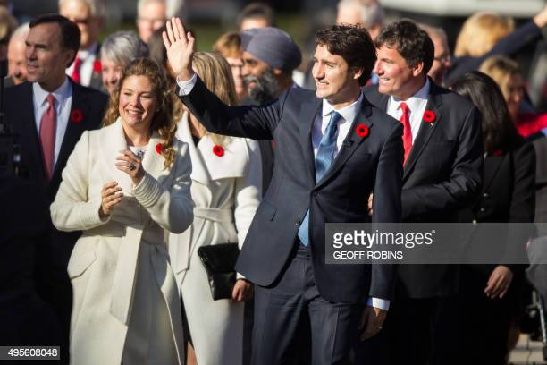 Prime Minister designate Justin Trudeau leads his cabinet appointees up the drive at Rideau Hall as the new Canadian government prepares to be sworn...