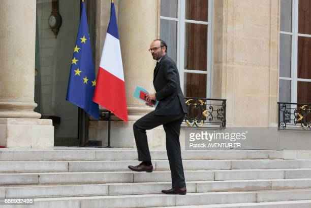 Prime minister Edouard Philippe arrives for a cabinet meeting at the Elysée Palace in Paris France on May 18 2017
