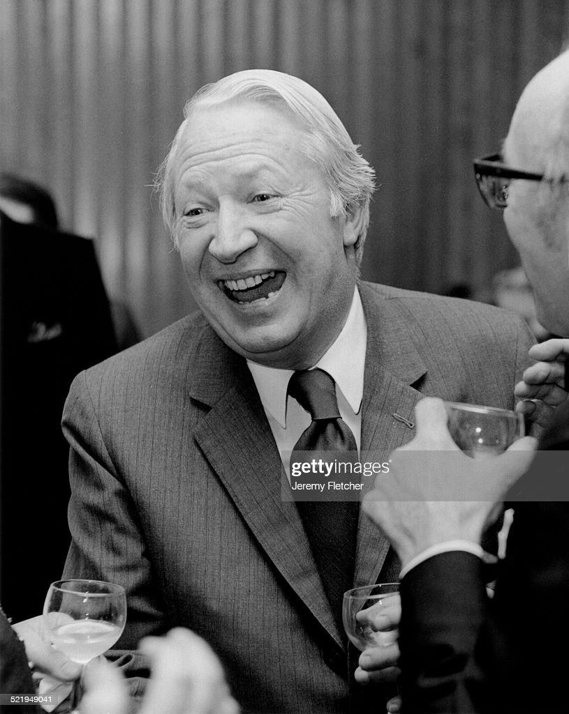 UK Prime Minister Edward Heath at a Deutsche Grammophon reception London 1972