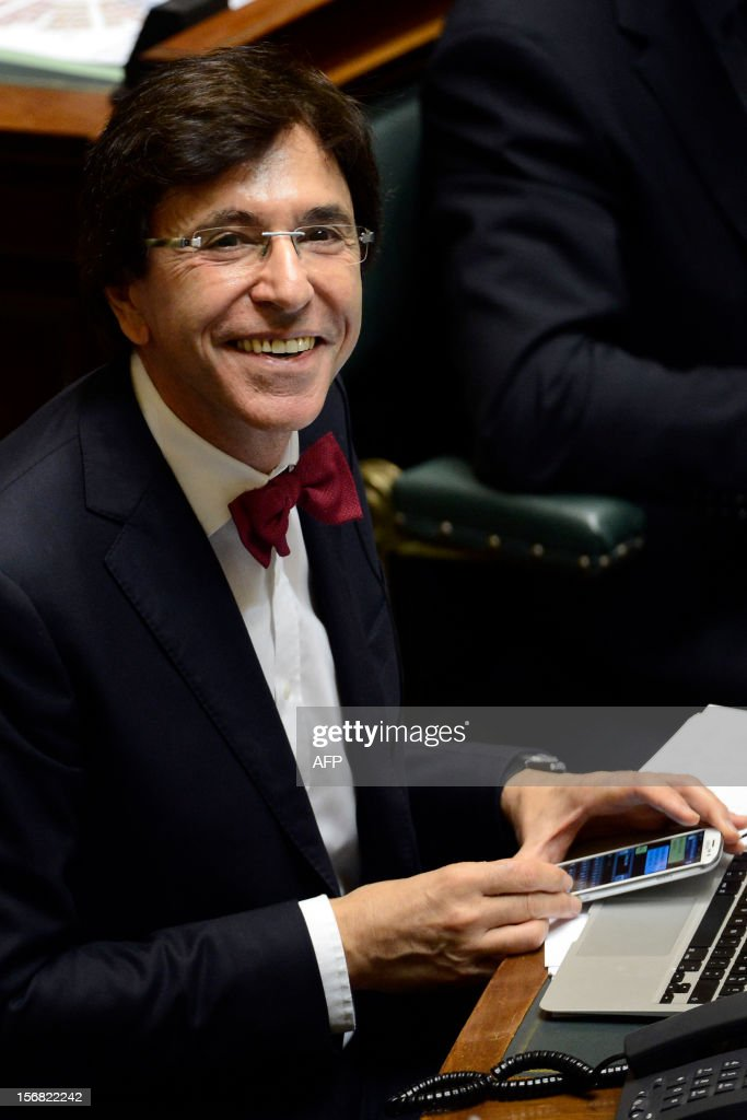 Prime Minister Elio Di Rupo attends the debate in the plenary session of the Chamber at the federal parliament, in Brussels, on November 22, 2012. Yesterday, the Di Rupo government presented the 2013 political declaration, after budget negotiations that lasted more than four weeks.