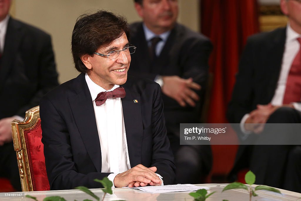 Prime Minister <a gi-track='captionPersonalityLinkClicked' href=/galleries/search?phrase=Elio+Di+Rupo&family=editorial&specificpeople=743705 ng-click='$event.stopPropagation()'>Elio Di Rupo</a> seen inside at the Abdication Ceremony Of King Albert II Of Belgium, & Inauguration Of King Philippe at the Royal Palace on July 21, 2013 in Brussels, Belgium.