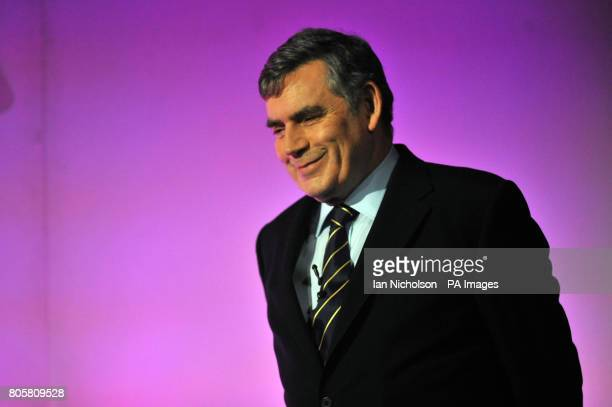 Prime Minister Gordon Brown addresses the Fabian Society's 'Causes To Fight For' conference at Imperial College London
