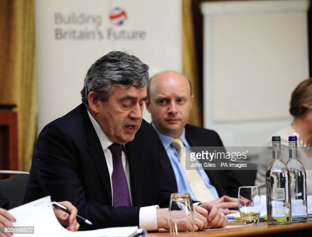 Prime Minister Gordon Brown at a breakfast meeting with business leaders in Leeds as he continues his regional tour of Britain
