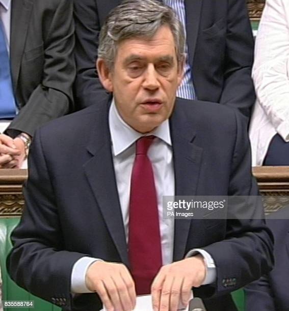 Prime Minister Gordon Brown makes a statement regarding the inquiry into the war in Iraq