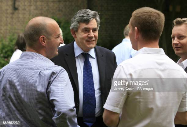 Prime Minister Gordon Brown meets campaigners and organisers of the Pride Weekend in the gardens of 10 Downing Street shortly before more than half a...