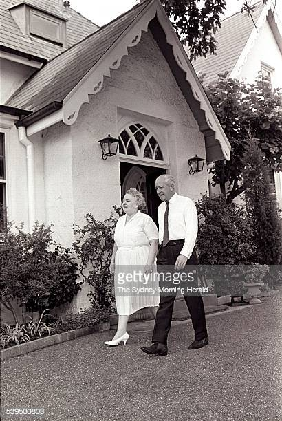 Prime Minister Harold Holt at Kirribilli House 29 January 1966 SMH Picture by F BURKE