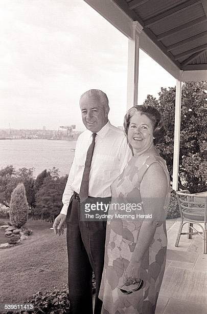 Prime Minister Harold Holt at Kirribilli House 29 January 1966 SMH NEWS Picture by F BURKE