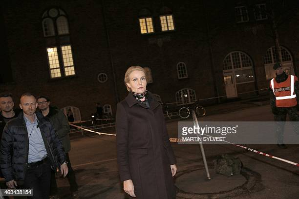 Prime Minister Helle Thorning Schmidt arrives at a cultural centre Krudttonden in Kanonhallen in Oesterbro a district of Copenhagen Denmark where...